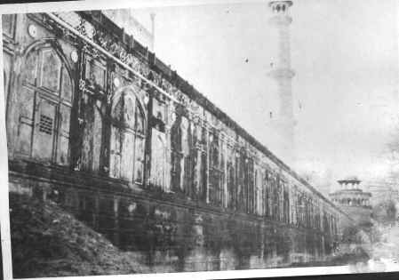 Taj Mahal-View of sealed doors & windows in back